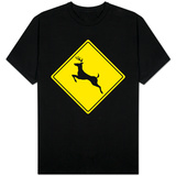 Deer Crossing Sign T-shirts