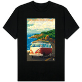 Washington Coast Drive with Lighthouse T-Shirt