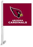 NFL Arizona Cardinals Car Flag with Wall Brackett Flag