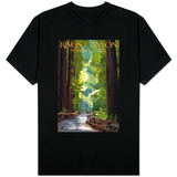 Kings Canyon National Park, California - Pathway and Hikers T-Shirt