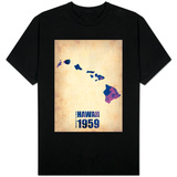 Hawaii Watercolor Map T-Shirt