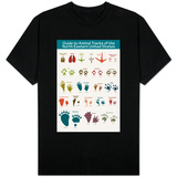 Animal Tracks of the North Eastern United States T-shirts