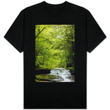 Hidden Waterfall in New York Catskills Photo T-shirts
