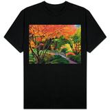 Fall colors at Portland Japanese Gardens, Portland Oregon T-Shirt