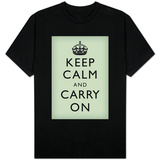 Keep Calm and Carry On (Mint Green) T-shirts