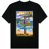 Waikiki, Oahu, Hawaii - Sign Destinations Shirt