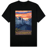 Mount Rushmore National Memorial, South Dakota - Sunset View T-Shirt
