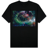 Heart Nebula in Cassiopeia Constellation Space Photo T-Shirt