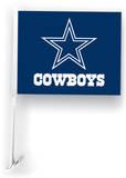 NFL Dallas Cowboys Car Flag with Wall Brackett Flag