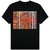 White Birch and Maple Trees in October T-shirts