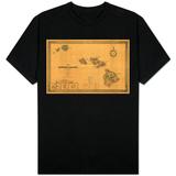 Hawaii - Panoramic State Map T-Shirt