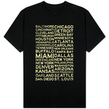 National Football League Cities Vintage Style T-Shirt