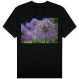 Purple Allium Flowers Photo T-Shirt