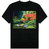 Fall Colors at Portland Japanese Gardens, Portland Oregon T-shirts