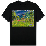 Deer in Wildflowers T-Shirt