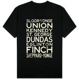 Toronto Metro Stations Vintage T-shirts