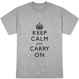 Keep Calm and Carry On (White) T-shirts