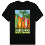 Maui, Hawaii - Surfboard Fence T-Shirt