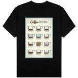Coffee Drinks T-shirts