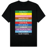 London Underground Tube Lines T-shirts