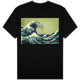 8-Bit Art Great Wave T-shirts