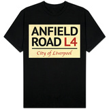 Anfield Road L4 Liverpool Street Sign Shirts