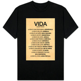 Vida por Madre Teresa Poema Shirts