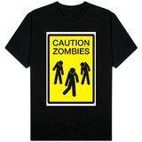 Caution Zombies Sign Shirts