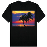 Colorful Sunset over Sombrero Beach in the Florida Keys T-Shirt