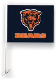 NFL Chicago Bears Car Flag with Wall Brackett Flag