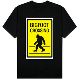 Bigfoot Crossing Sign Shirt