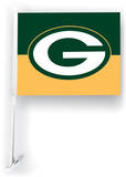 NFL Green Bay Packers Car Flag with Wall Brackett Flag