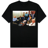 President Obama before statement to the media of the mission against Osama bin Laden, May 1, 2011 T-Shirt