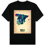 Spain Watercolor Map T-Shirt