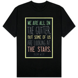 Oscar Wilde Looking at the Stars Quote T-shirts