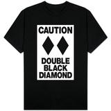 Caution Double Black Diamond T-Shirt