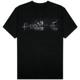 New York Skyline at Night Dominated by the Twin Towers of the World Trade Centre, August 1981 Shirts