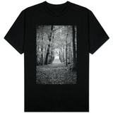 Berkshires Near Appalachian Trail Black and White T-Shirt
