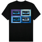 Audio Cassette Tapes Blue Pop Art Shirts
