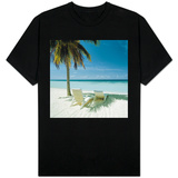 Palm Tree and Beach Chair T-Shirt