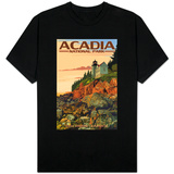 Acadia National Park, Maine - Bass Harbor Lighthouse T-shirts