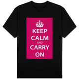 Keep Calm and Carry On (Magenta) T-Shirt