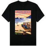 Laguna Beach, California - Woody on Beach T-skjorter
