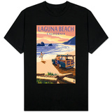 Laguna Beach, California - Woody on Beach T-Shirts