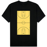 Basketball Court Layout T-shirts