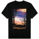 Oregon Coast Sunset Surfers T-Shirt