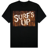Surf's Up Wood-Style Sign T-Shirt