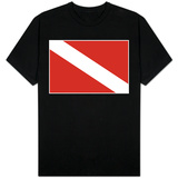 Scuba Diver Down Flag T-Shirt