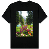 Banff Flowers In National Park Nature Photo Shirts