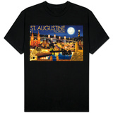St. Augustine, Florida - Night Scene Shirts